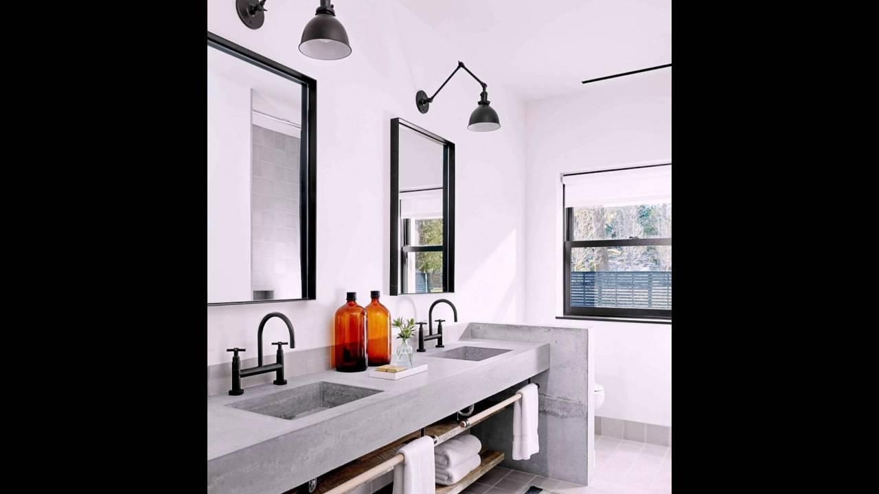 Beton schafft eine angenehme und Eitelkeit im Badezimmer - YouTube