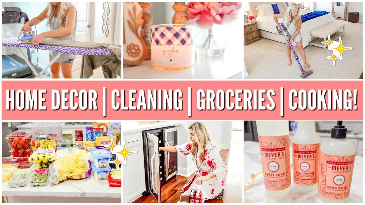 DECORATE + CLEAN WITH ME | GROCERY HAUL | WHATS FOR DINNER | CLEANING MOTIVATION | Love Meg
