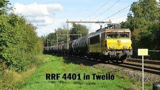 RRF 4401 passeert met een keteltrein Twello!