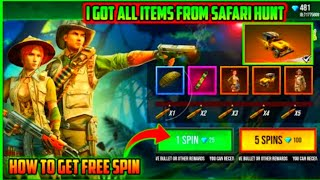 How to get free spin in Safari hunt in free fire in Telugu