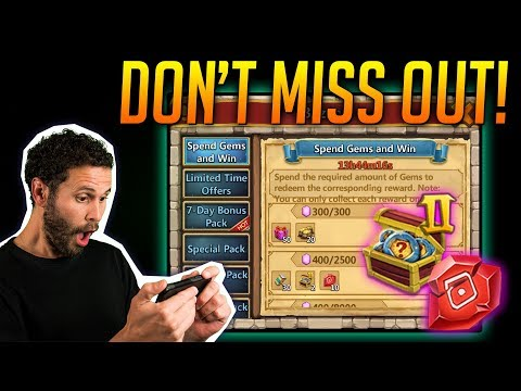 JT's F2P Amazing Spend Gems & Win BIG Rewards Castle Clash