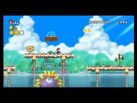 New Super Mario Bros Wii Star Coin Location Guide World 4 3