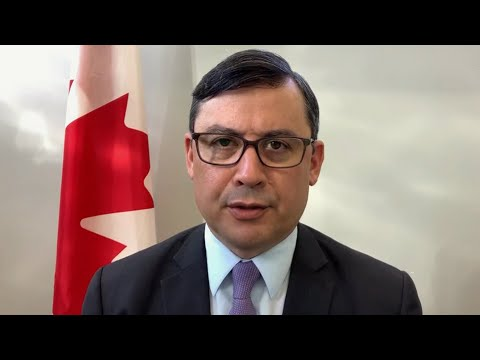 Conservative MP Michael Chong reacts after being sanctioned by China