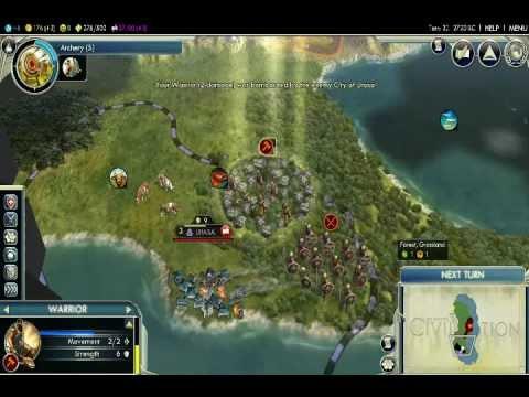 Let's Play Civ V Episode 1: Washington Move Your Ass