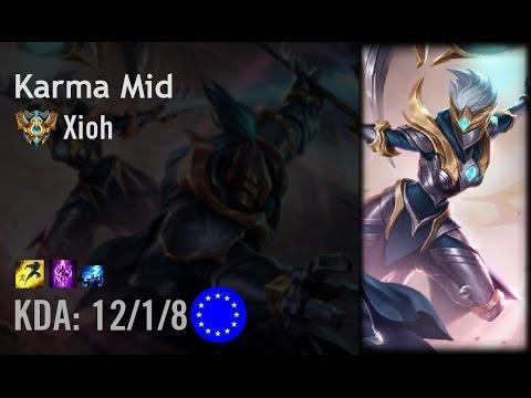 Karma Mid vs Viktor - Xioh - EUW Challenger Patch 6.12