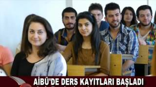 AİBÜ'DE DERS KAYITLARI BAŞLADI (17.09.2015 - BOLU) 2017 Video