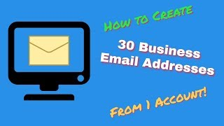 How to create 30 Professional Email Addresses with 1 Gsuite Account