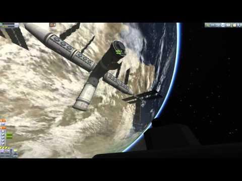 KSP - SSTO Crew Transfer IVA Mission w/ Mk22-S (Timelapse)