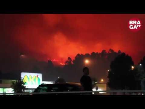 Braga vive inferno de chamas