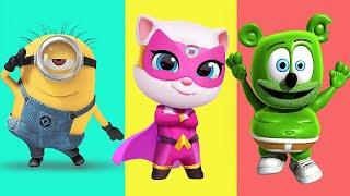 Gummy Bear,Minions,My Talking Angela,Miraculous Ladubug,My Talking Tom Hero