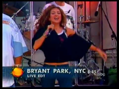 Thalia Ft Fat Joe -  I Want You @ Live Good Morning America (HQ)