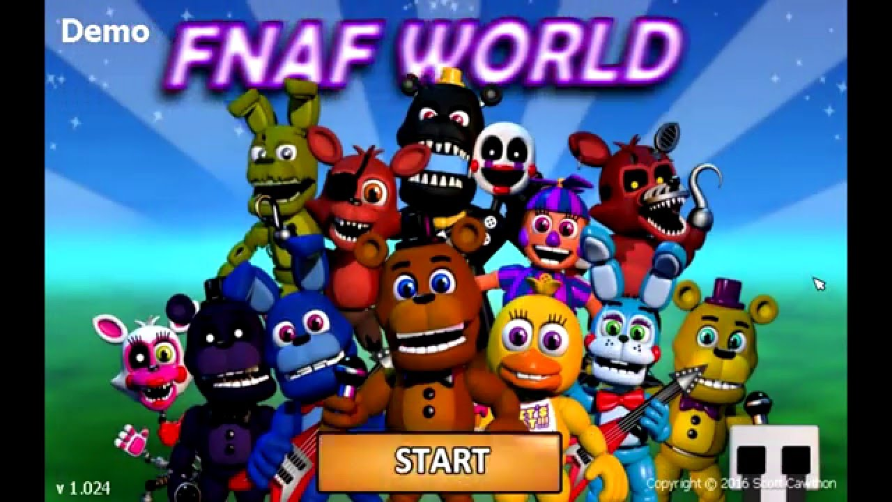 FNaF World Demo gameplay