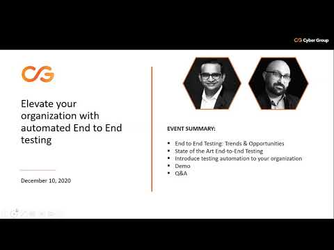 Elevate Your Organization With Automated End to End Testing | Bits & Bytes Webinar