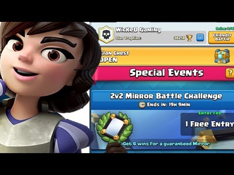 I BET I GET A LEGENDARY OUT OF THE CLAN CHEST + 2v2 MIRROR BATTLE CHALLENGE | Clash Royale
