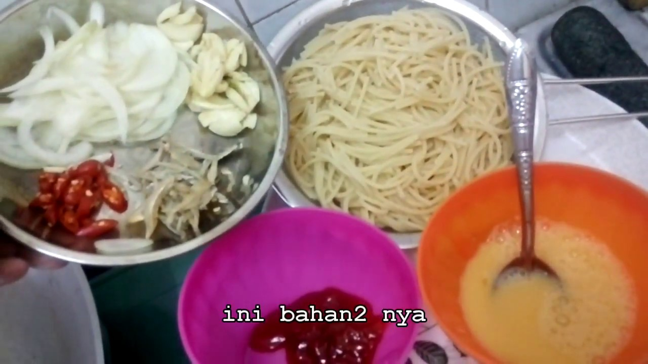 Spaghetti Goreng Simple Yang Sedap Youtube