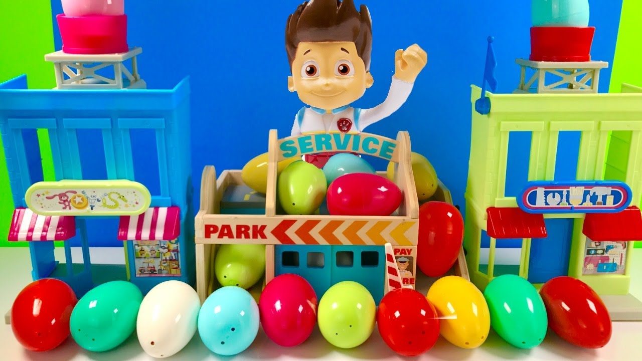 Fizzy Fun Toys: Fun Colors With Paw Patrol Surprise Eggs Find The Puppets