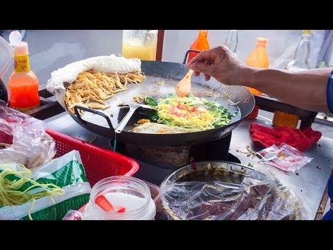 Fry Noodle - Asian Street Food, Fast Food Street in Asia, Cambodian Street food #220