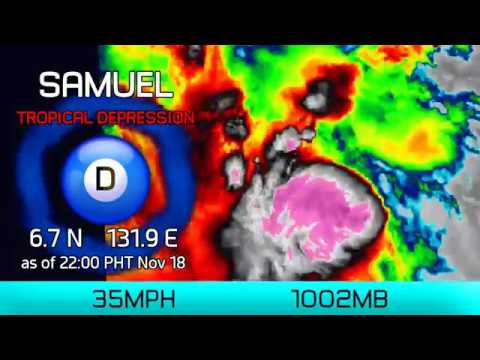 Tropical Depression Samuel (Philippines) Update - 10pm PHT Nov 18, 2018