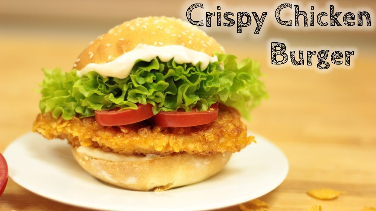 crispy chicken burger selber machen youtube. Black Bedroom Furniture Sets. Home Design Ideas