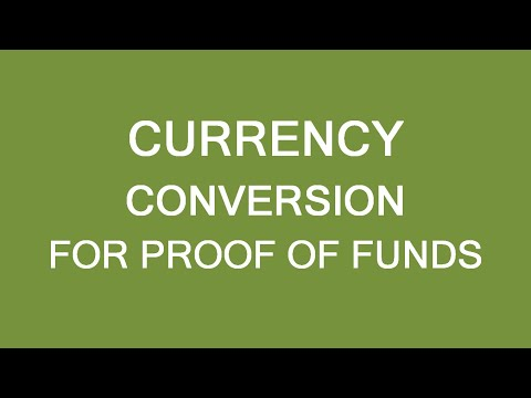 Avoid Proof Of Funds Mistakes! Currency Conversion Issue, Immigration Canada