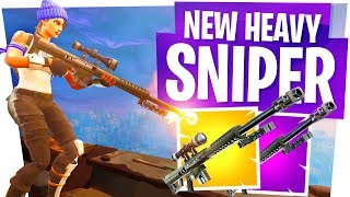 The NEW 50 Cal Sniper in Fortnite! - Heavy Sniper Gameplay & Win!