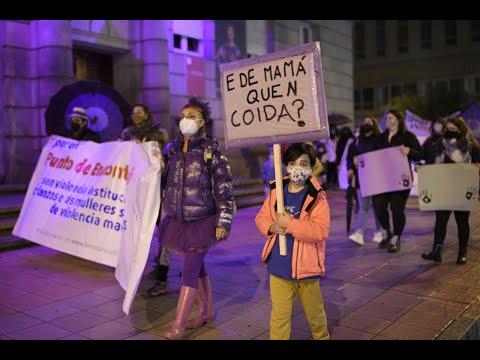 La marcha del 25-N contra la violencia de género recorre Ourense