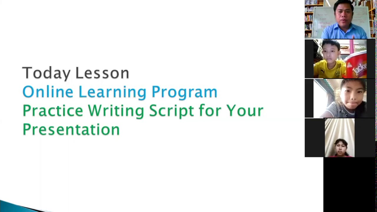 how to write a script for your classroom presentation