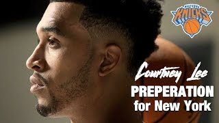 Courtney Lee getting ready for the New York Knicks season.