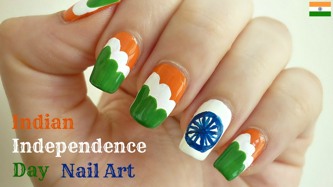 YouTube Premium - Indian Independence Day Nail Art 15th August - IndianNailArt