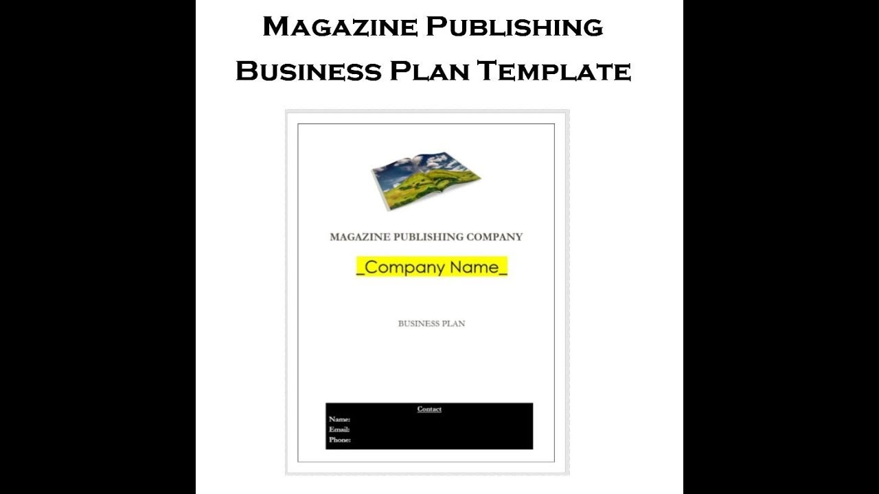 Magazine Publishing Business Plan Template Sample YouTube - Magazine business plan template