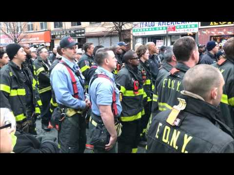 FDNY'S BUNTING CEREMONY & NEWS CONFERENCE FOR FIREFIGHTER WI