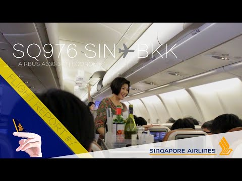 Singapore Airlines A330 Flight Report | SQ976 Singapore ✈ Bangkok