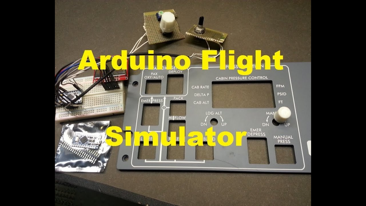 Flight simulator fsx learjet arduino cabin pressure panel