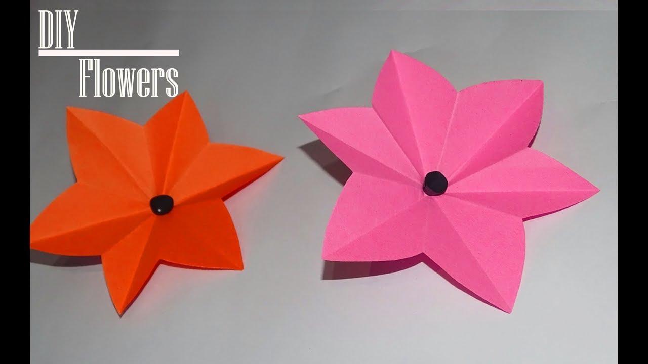 Origami Flower Easy Paper Flower 2018 Easy Step Paper Craft