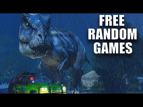 JURRASIC PARK SIMULATOR & A SCARY DRIVE HOME | Free Random Games
