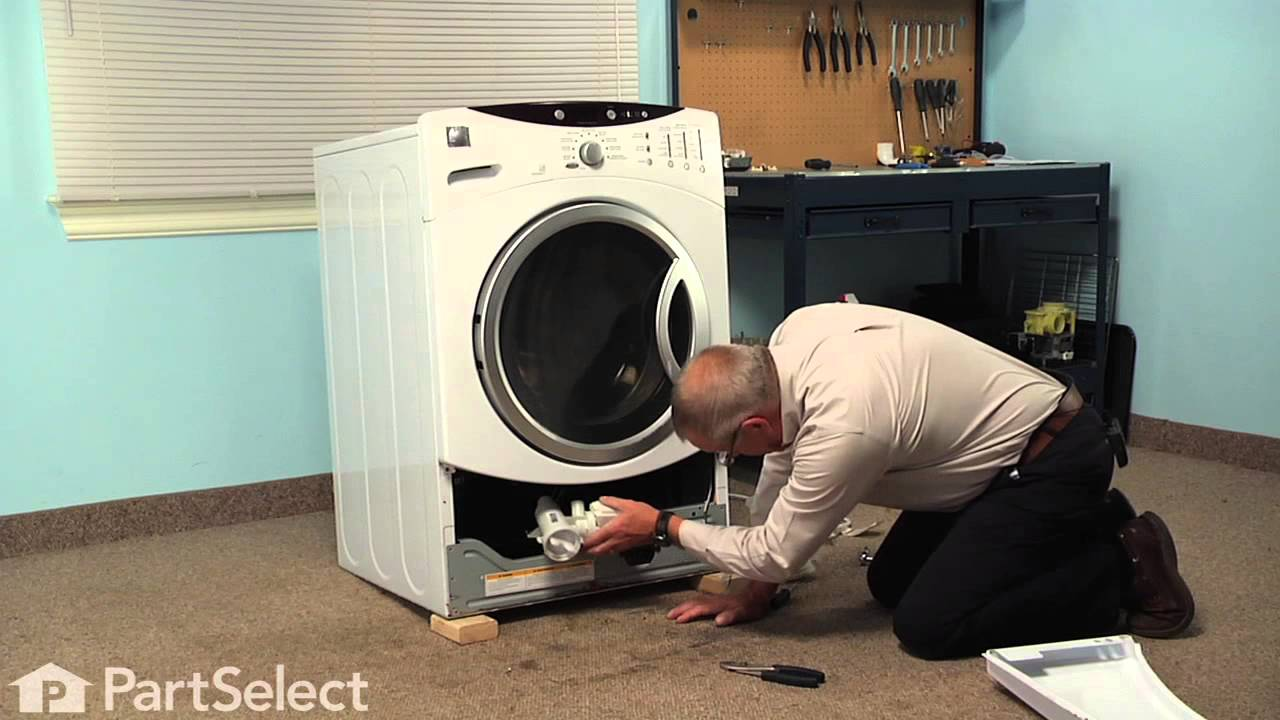 Washing machine repair replacing the drain pump and motor ge part wh23x10028 youtube - Interesting facts about washing machines ...