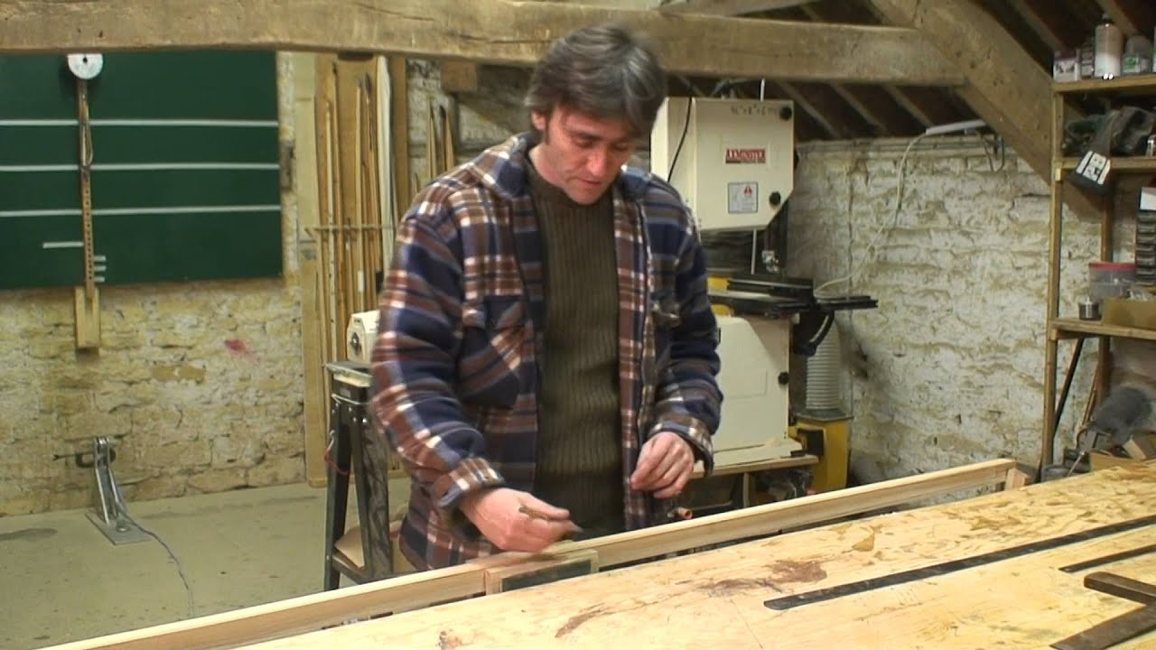 How to make a longbow - marking out the stave