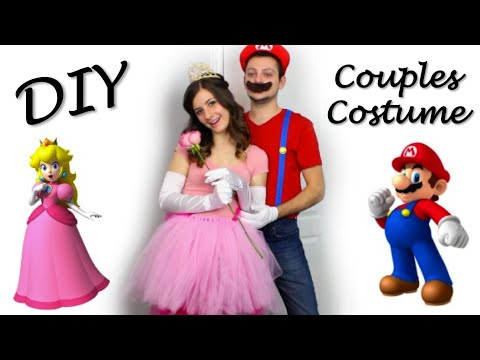 princess peach mario diy halloween couples costume youtube. Black Bedroom Furniture Sets. Home Design Ideas