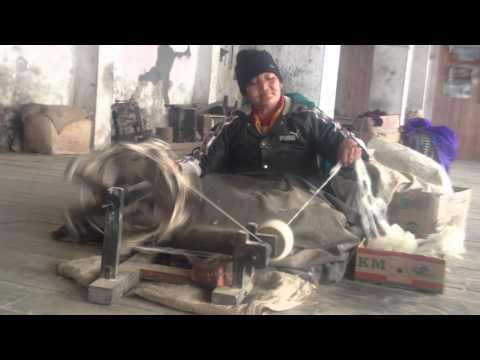 Wool spinning at the Tibetan Refugee Self Help Center