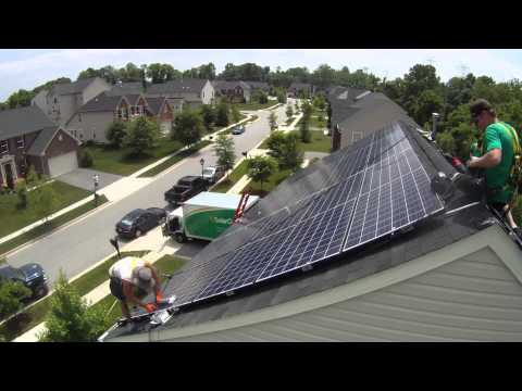 Solar City Install 90% complete Drone View