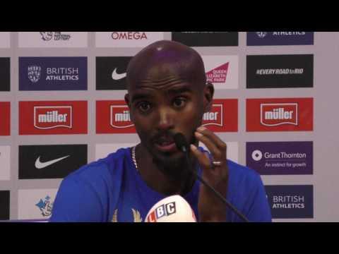 London IAAF Diamond League press conference: Mo Farah