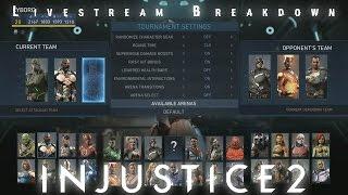 Injustice 2 - Battle Simulator/Tournament Mode Breakdown