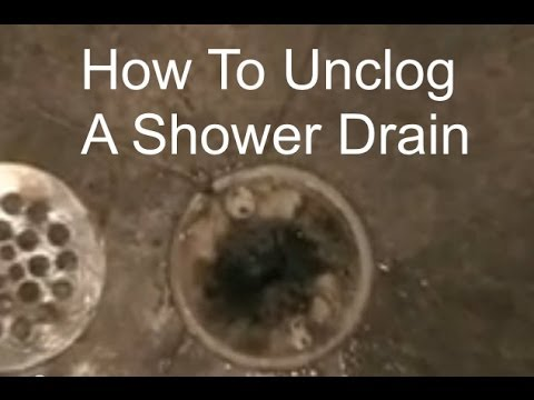 Unclogging a Shower Drain - How to Unclog a Shower Drain ...