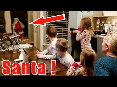 Santa Caught On Camera In Real Life! Christmas 2018! Santa Left His Hat!