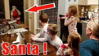 Santa Caught on Camera in Real Life! Christmas 2018! Santa Left His Hat!