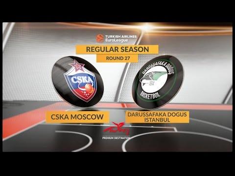 Highlights: CSKA Moscow-Darussafaka Dogus Istanbul