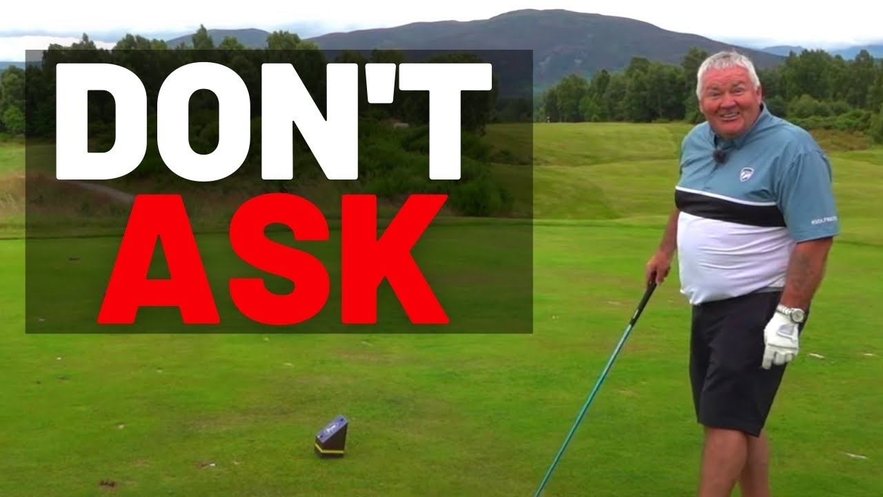 YOU SHOULD NEVER SEE THIS ON THE GOLF COURSE !