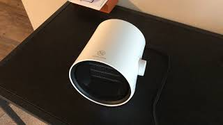 JS Mini Heater for Small Spaces blogger review