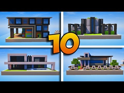 10 MAISONS MODERNES ABSOLUMENT INCROYABLES ! - MINECRAFT