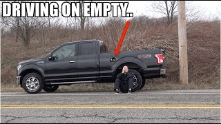 "How far did I drive my Ford F150 on ""0 MILES TO EMPTY"" ?? (a LOT farther than you think)"